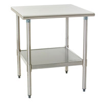 "Eagle Group T2430B 24"" x 30"" Stainless Steel Work Table with Galvanized Undershelf"