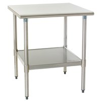 """Eagle Group T2436SEB 24"""" x 36"""" Stainless Steel Deluxe Work Table with Stainless Steel Undershelf"""