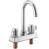 Regency Deck Mount Faucet with 8 inch Gooseneck Spout and 4 inch Centers