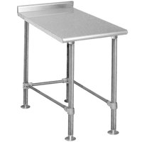 Eagle Group UT3015STEB Deluxe 15 inch x 30 inch Stainless Steel Equipment Filler Table