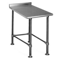 Eagle Group UT2415STEB Deluxe 15 inch x 24 inch Stainless Steel Equipment Filler Table