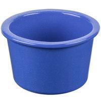 Tablecraft CW1660BS 17 oz. Blue Speckle Cast Aluminum Condiment Bowl
