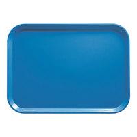 Cambro 1014105 10 5/8 inch x 13 3/4 inch Rectangular Horizon Blue Fiberglass Camtray - 12/Case