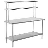 Eagle Group T3060B-FM 30 inch x 60 inch Stainless Steel Work Table with Flex-Master Overshelf Kit