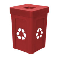 IRP 1070 Red Stacking Flat Lid Recycle Bin - 48 Gallon