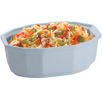 Tablecraft CW1780GY 2 Qt. Gray Cast Aluminum Oval Prism Bowl