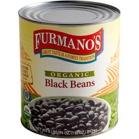 Furmano's #10 Can Organic Black Beans in Brine - 6/Case