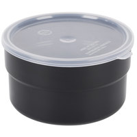 Carlisle 036503 1.5 Qt. Black Supreme Crock with Lid - 6 / Case