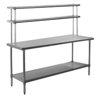 Eagle Group T3072SE-FM 30 inch x 72 inch Stainless Steel Spec-Master Work Table with Flex-Master Overshelf Kit