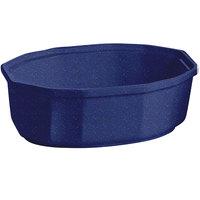 Tablecraft CW1780BS 2 Qt. Blue Speckle Cast Aluminum Oval Prism Bowl