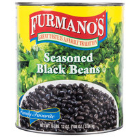 Furmano's #10 Can Seasoned Black Beans - 6/Case