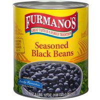 Furmano's #10 Can Seasoned Black Beans - 6/Case
