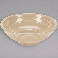 Homer Laughlin 765330 Fiesta Ivory 2 Qt. China Pedestal Serving Bowl - 4/Case