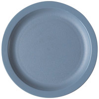 Cambro 825CWNR401 Camwear 8 1/4 inch Slate Blue Polycarbonate Narrow Rim Plate - 48/Case