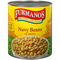 Furmano's #10 Can Navy Beans in Brine - 6/Case