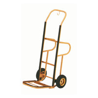 Aarco Bellman's Stainless Steel Brass Finish Luggage Cart / Hand Truck - 15 inch x 15 inch x 48 inch
