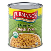 Furmano's #10 Can Organic Chick Peas (Garbanzo Beans)   - 6/Case