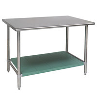 Eagle Group T2448STB-L1 24 inch x 48 inch Stainless Steel Work Table with LIFESTOR Undershelf
