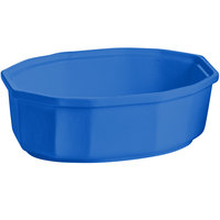 Tablecraft CW1780CBL 2 Qt. Cobalt Blue Cast Aluminum Oval Prism Bowl