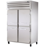 True STR2H-4HS Specification Series Two Section Reach In Heated Holding Cabinet Four Solid Half Doors