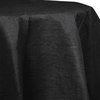 Creative Converting 923260 82 inch Black Velvet OctyRound Tissue / Poly Table Cover - 12/Case