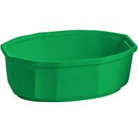 Tablecraft CW1780GN 2 Qt. Green Cast Aluminum Oval Prism Bowl