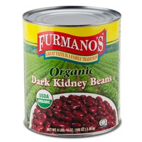 Furmano's #10 Can Organic Dark Kidney Beans in Brine   - 6/Case
