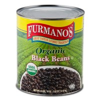 Furmano's Organic Black Beans in Brine #10 Can