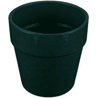 Tablecraft CW1445HGNS 2 Qt. Hunter Green with White Speckle Cast Aluminum Round Condiment Bowl