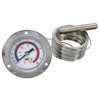 All Points 62-1123 2 inch Front Flange Dial Thermometer with 240 inch Capillary
