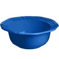 Tablecraft CW6210CBL 5 Qt. Cobalt Blue Cast Aluminum Queen Anne Salad Bowl