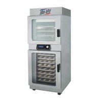 NU-VU OP-4/8A Double Deck Electric Oven Proofer Combo with Programmable Controls - 240V, 1 Phase, 7.2 kW
