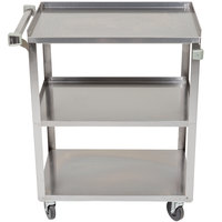 Stainless Steel 3 Shelf Utility Cart - 27 1/2 inch x 15 1/2 inch x 33 inch