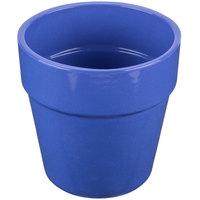 Tablecraft CW1445BS 2 Qt. Blue Speckle Cast Aluminum Round Condiment Bowl