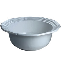 Tablecraft CW6210GY 5 Qt. Gray Cast Aluminum Queen Anne Salad Bowl