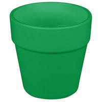 Tablecraft CW1445GN 2 Qt. Green Cast Aluminum Round Condiment Bowl