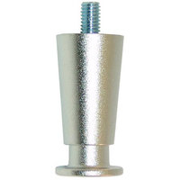 All Points 26-2433 2 1/2 inch Nickel Adjustable Flange Leg - 1 1/4 inch Diameter