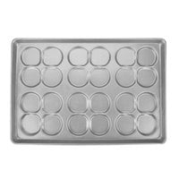 Chicago Metallic 42445 24 Mold Glazed Customizable Clustered ePAN Hamburger Bun / Muffin Top / Cookie Pan