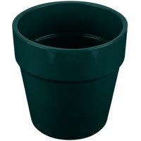 Tablecraft CW1445HGN 2 Qt. Hunter Green Cast Aluminum Round Condiment Bowl