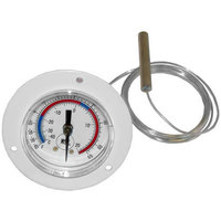 All Points 62-1130 2 inch Front Flange Dial Thermometer with 72 inch Capillary