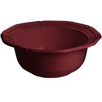 Tablecraft CW6220TC 10 Qt. Terra-Cotta Cast Aluminum Queen Anne Salad Bowl