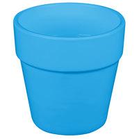 Tablecraft CW1445SBL 2 Qt. Sky Blue Cast Aluminum Round Condiment Bowl
