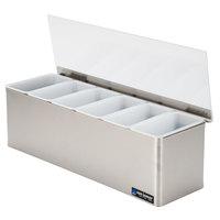 San Jamar B6186L EZ-Chill 6-Compartment Stainless Steel Condiment Bar