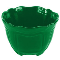 Tablecraft CW1454GN 1.3 Qt. Green Cast Aluminum Round Condiment Bowl