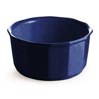 Tablecraft CW1790BS 2.5 Qt. Blue Speckle Cast Aluminum Prism Bowl