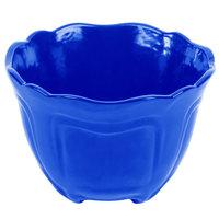 Tablecraft CW1454CBL 1.3 Qt. Cobalt Blue Cast Aluminum Round Condiment Bowl