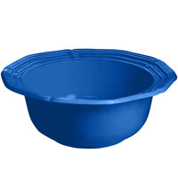 Tablecraft CW6200CBL 2 Qt. Cobalt Blue Cast Aluminum Queen Anne Salad Bowl