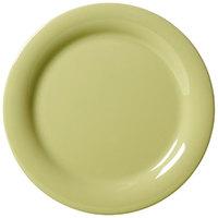 GET NP-6-AV Avocado Diamond Harvest 6 1/2 inch Rolled Edge Plate - 48/Case