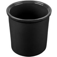 Tablecraft CW1665BK 1.25 Qt. Black Cast Aluminum Condiment Bowl
