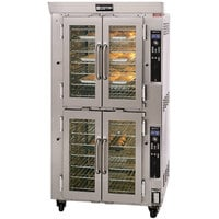 Doyon JA14G Jet Air Natural Gas Double Deck Bakery Convection Oven - 208V, 3 Phase, 130,000 BTU